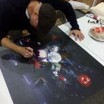 Chris Kettle Hand-Finishing New PRINT- Still Life Of Fruit & Flowers After Huysum