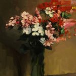 Red, Pink And White Flowers After Fantin-Latour
